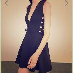 BCBG Maxazria Kalie Lace-Up Dress